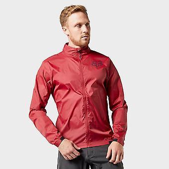 New Fox Men's Attack Water Repellent Wind Jacket Red