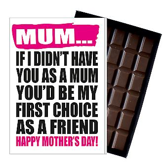 Funny Mother's Day Gift Boxed Chocolate Present Rude Greeting Card For Mom Mum Mumy MIYF114