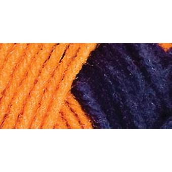 Red Heart Team Spirit Yarn Orange Navy E797 960
