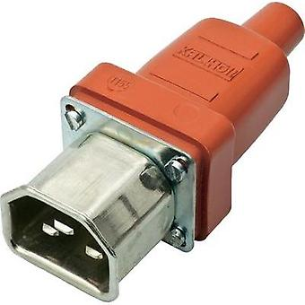 Hot wire connector C22 ATT.LOV.SERIES_POWERCONNECTORS 444 Plug, straight Total number of pins: 2 + PE 16 A Red, Metal Ka
