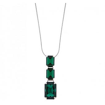 Martine Wester Emerald Green Crystal Angelina Pendant Necklace