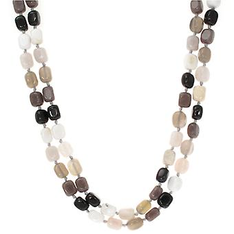 Lola Rose Ruby Rae Necklace schwarzer Obsidian Kakao Quarzit Stein