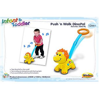 Import Dino friend Pushes Y Anda (Toys , Preschool , Babies , Push And Pull Toys)