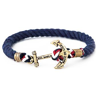 Kiel James Patrick Union Jack Ankerarmband Marineblau
