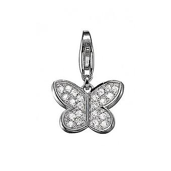 ESPRIT pendant of charms silver cubic zirconia butterfly sweety ESCH90971A000