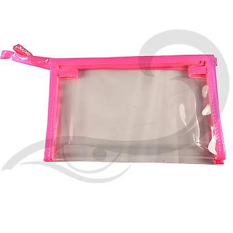 Technic Large PVC Clear Cosmetic Make-Up Toiletry Bag
