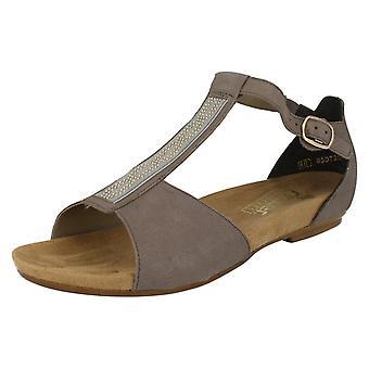 Ladies Rieker T-Bar Antistress Sandals V1759