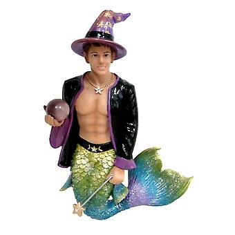 Wiz Magician Merman Christmas Holiday Ornament