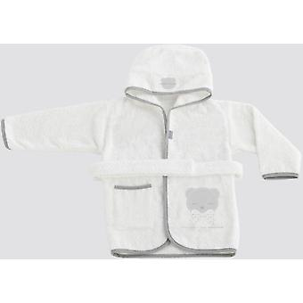 Naf Naf 100% Cotton bathrobe Once Upon A Time Gris Gris