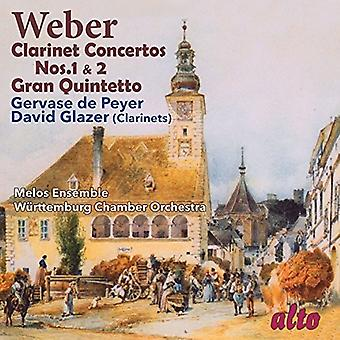 Weber / Glazer, David / Gervase De Peyer - Clarinet Concertos Nos. 1 & 2 / Gran Quintetto [CD] USA import