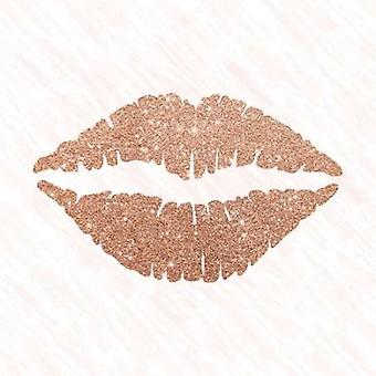 Rose Gold kyss Poster trykk av Amanda Murray