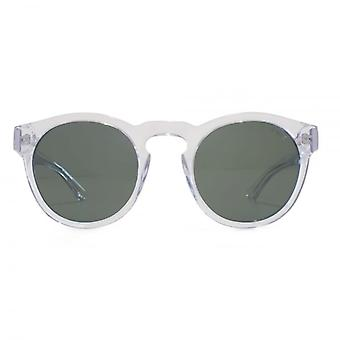 Levis Keyhole Round Sunglasses In Clear Green
