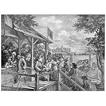 William Hogarth - The Polling Poster Print Giclee