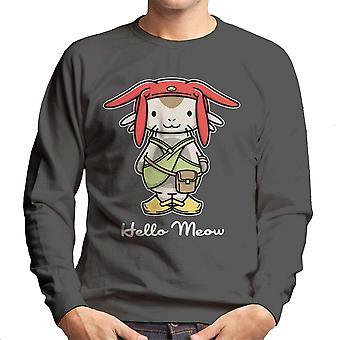 Hej mjave plads Dandy Kitty mænds Sweatshirt