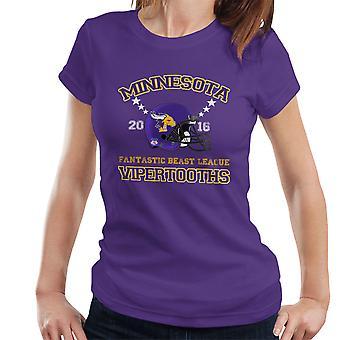 Fantastic Beasts League Minnesota Vipertooths Helmets Women's T-Shirt