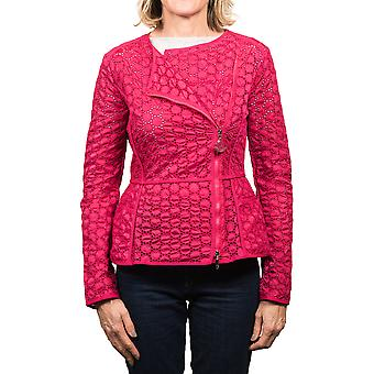 Moncler Majorelle tonale broderet asymetrisk Zip Jacket Womens