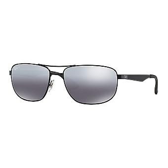 Ray - Ban RB3528 Large Black pole mirrored gray polarized money