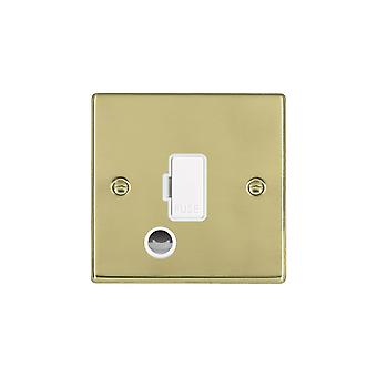 Hamilton Litestat Hartland Polished Brass 1g 13A Fuse + CO WH/WH