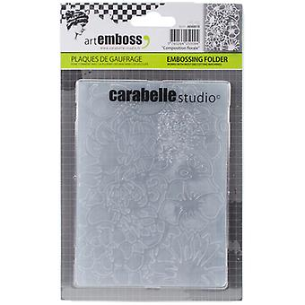 Carabelle Studio Embossing Folder-Composition Florale AE60010
