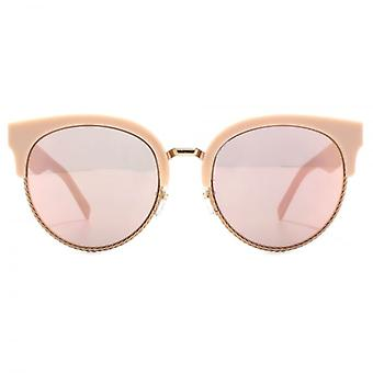 Marc Jacobs Metal Twist Browline Style Sunglasses In Pink