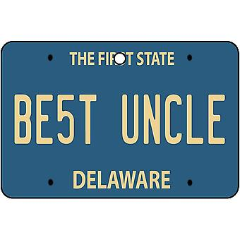 Delaware - Best Uncle License Plate Car Air Freshener