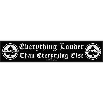 Motorhead Patch Everything Louder band logo new Official woven strip 21cm x 5cm)