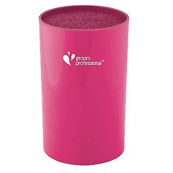 Groom Professional Scissor Cylinder Bright Pink