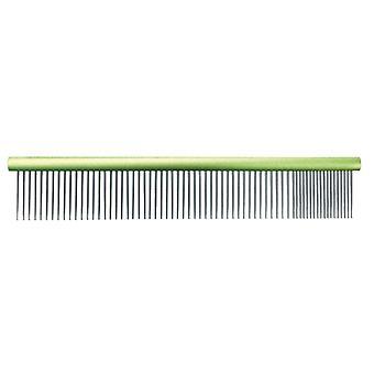 Groom Professional Spectrum Aluminium Comb 80/20 Lime Green 20cm