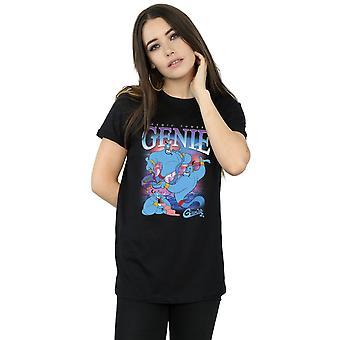 Disney Women's Aladdin Genie Montage Boyfriend Fit T-Shirt