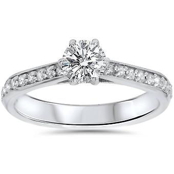 5 / 8ct Diamond Engagement Ring 14K White Gold