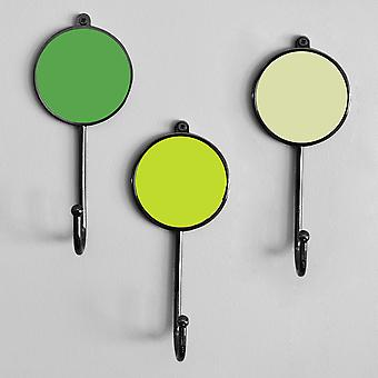 Green Colourful Coat Clothes Wall Bedroom Robe Hooks