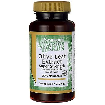 Swanson Olive Leaf Extract 750Mg Super Strength 60 Capsules