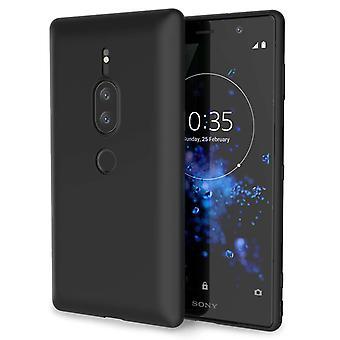 Sony Xperia XZ2 Premium mat TPU Gel - effen zwart