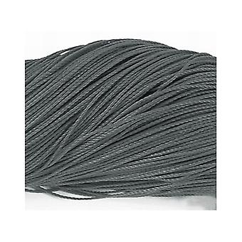 1 x Grey/Black Waxed Polyester 10m x 1mm Thong Cord Continuous Length Y06910