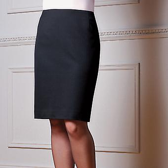 Brook Taverner Ladies Smart Formal Work Sigma Straight Skirt Black