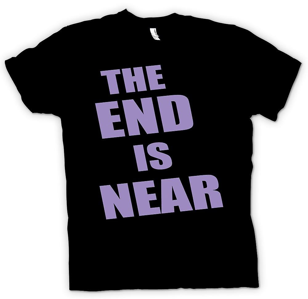 Mens T-shirt - The End Is Near - Funny - Humour