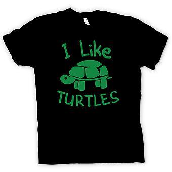 Kids T-shirt - I Like Turtles