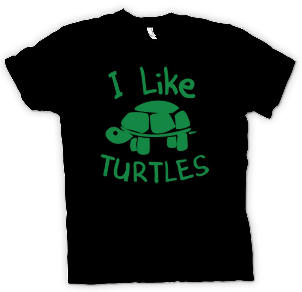 Kids T-shirt - I Like Turtles