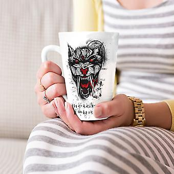Hell Beast Tiger Animal NEW White Tea Coffee Ceramic Latte Mug 17 oz | Wellcoda