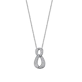Joop women's chain necklace silver cubic zirconia Mila JPNL90645A420