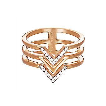 ESPRIT women's ring stainless steel Rosé JW52894 cubic zirconia ESRG02611D1