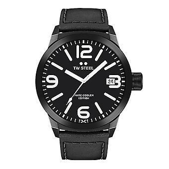 TW stål mens klocka Marc Coblen Edition TWMC30 wrist watch läderarmband