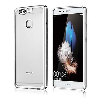 Premium TPU Silikoncase sølv for Huawei P9 bag coveret