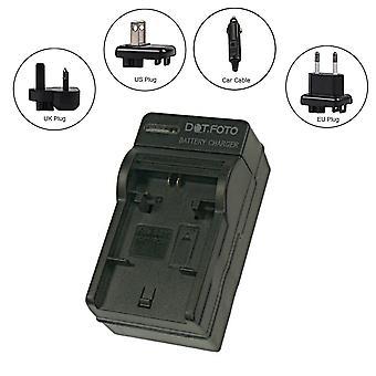 Dot.Foto Samsung BP88A Travel Battery Charger for Samsung DV300, DV300F, DV305, DV305F