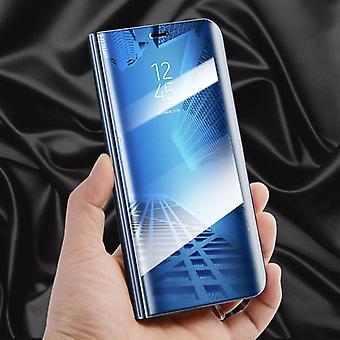 Für Samsung Galaxy J6 J600 2018 Clear View Spiegel Mirror Smartcover Blau Schutzhülle Cover Etui Tasche Hülle Neu Case Wake UP Funktion