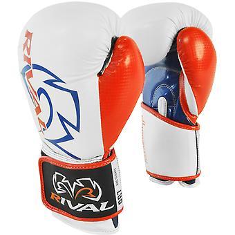 Rival boksning RB7 Fitness + krog og løkke taske handsker - hvid/blå/rød