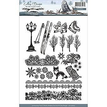 Find It Trading Amy Design Clear Stamp 24/Pkg-Wintertide
