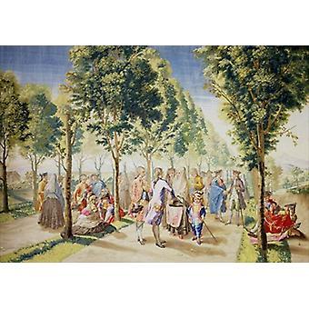 El Paseo de las Delicias, Madrid (tapestry).. - Art Print