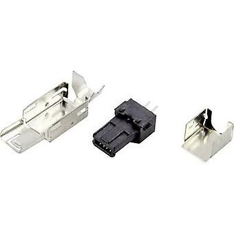 Mini USB A connector Plug, straight DS1105-BBN0 Connfly Con