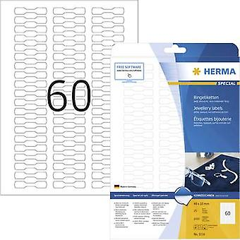 Herma 5116 Labels 49 x 10 mm Paper White